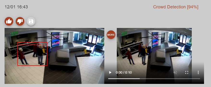 Camera's view of the lobby at Peachtree Corners city hall.
