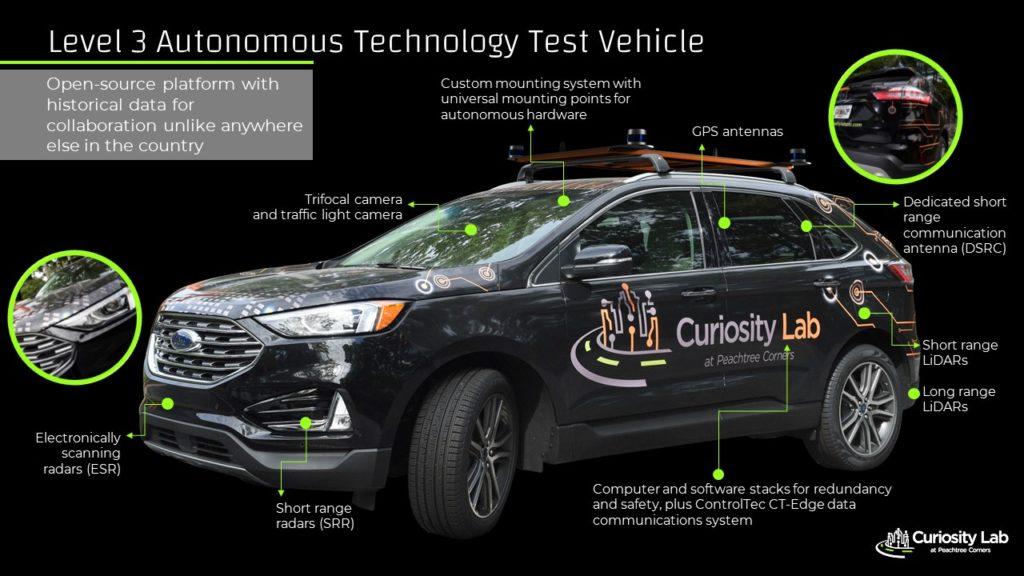 Curiosity Lab's level 3 autonomous technology test vehicle.